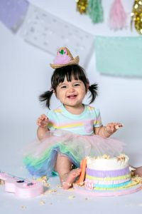 Child Smashing Cake